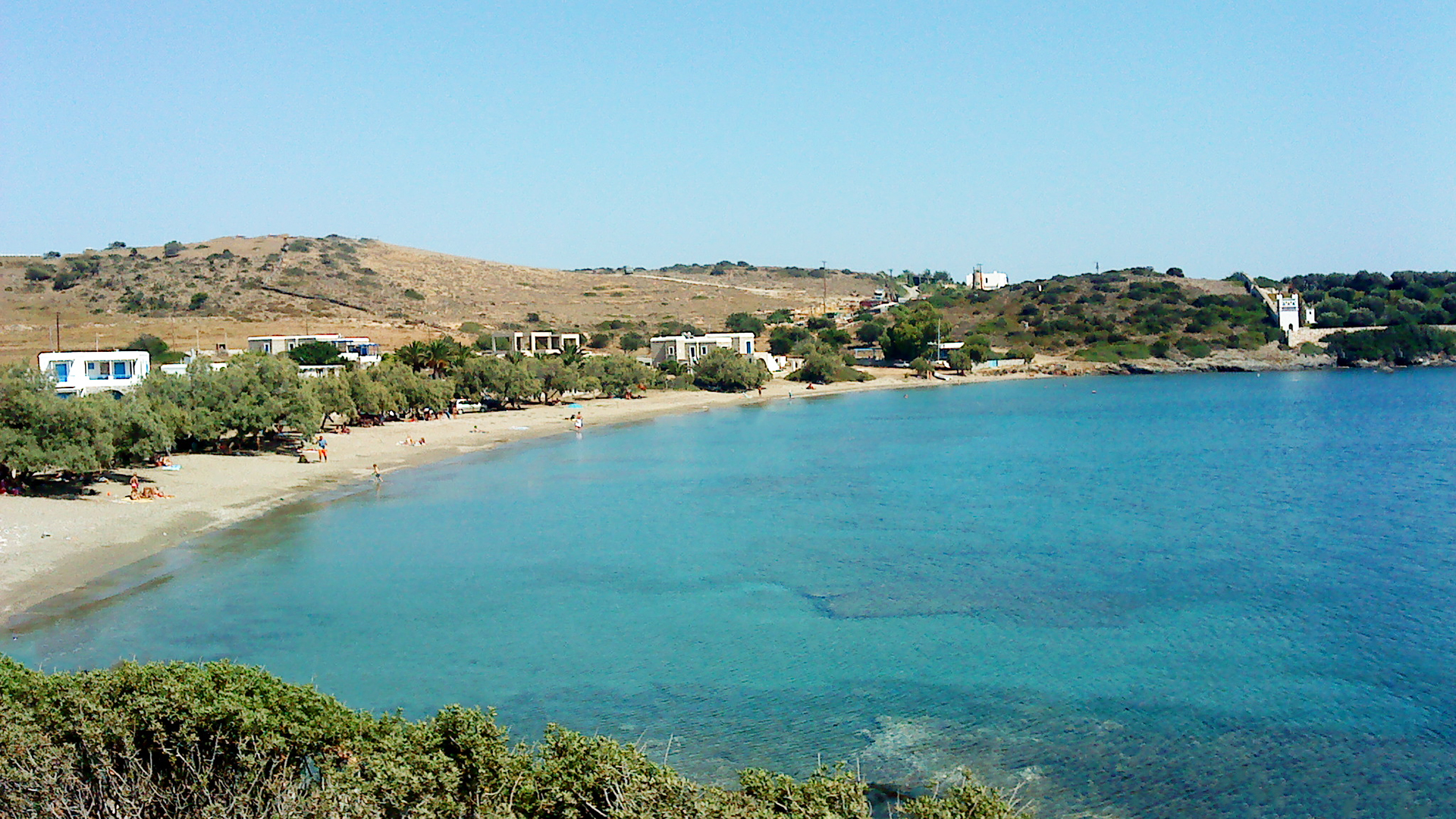 A beautiful beach of Schinoussa
