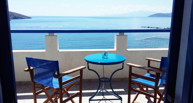 A stunning balcony sea view