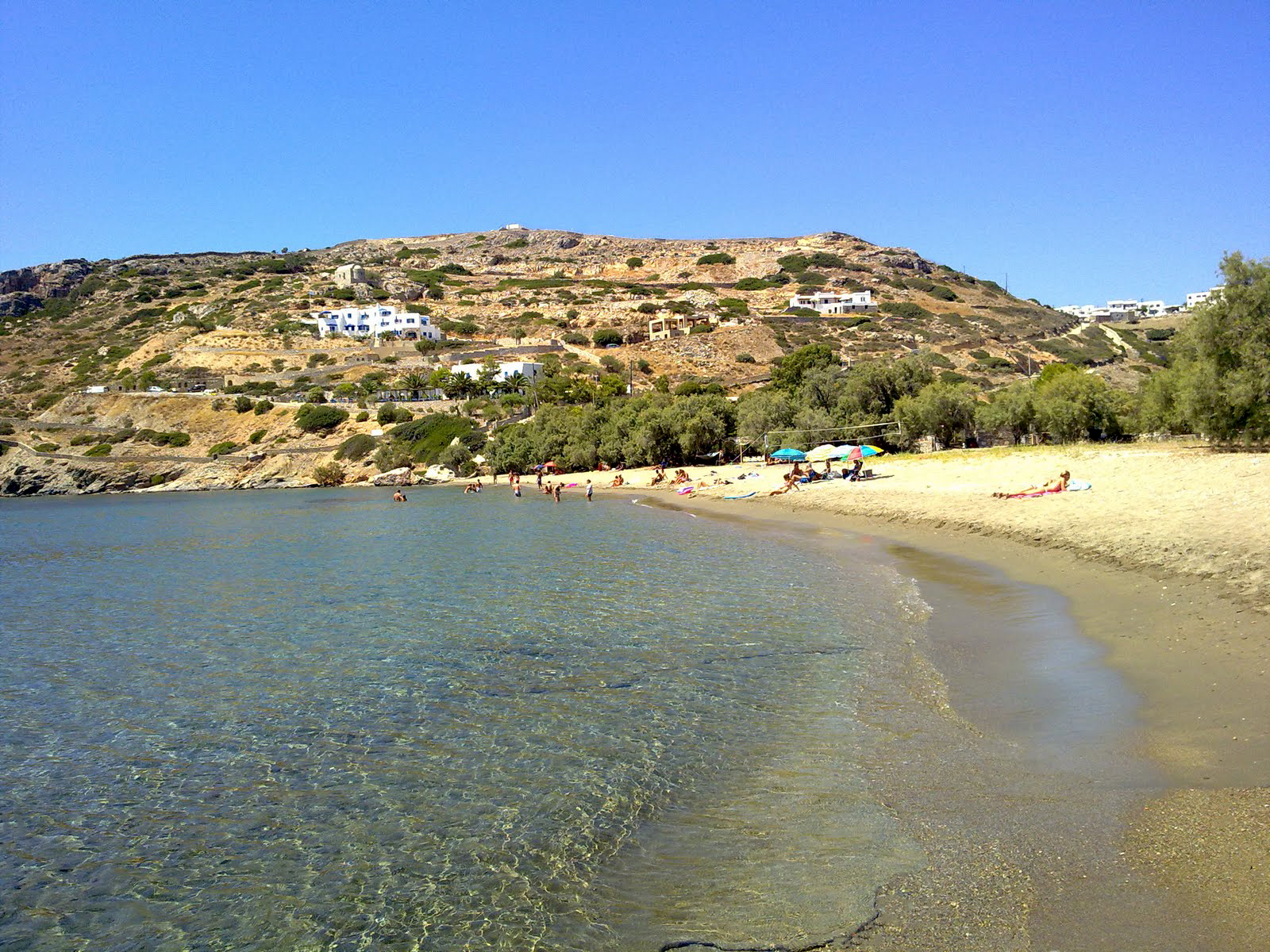 The Tsigkouri Beach of Schinoussa